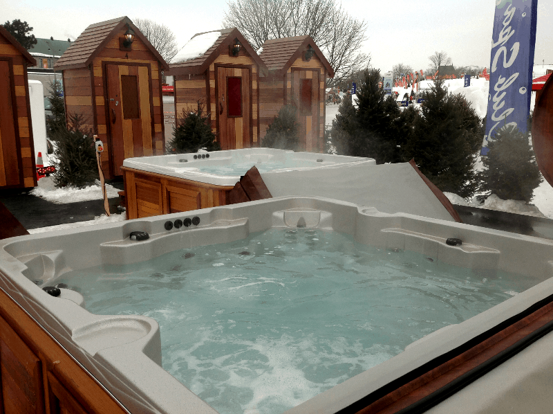 Arctic Spas Hot tubs outside in winter